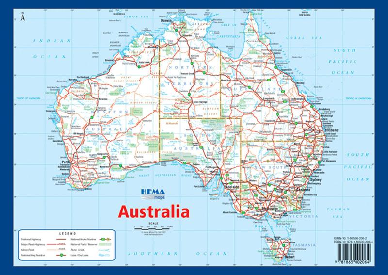 Australia A4 Map Hema Maps Books Travel Guides Buy
