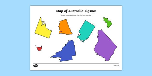Australia Map Jigsaw Puzzle Printable Twitterleesclub
