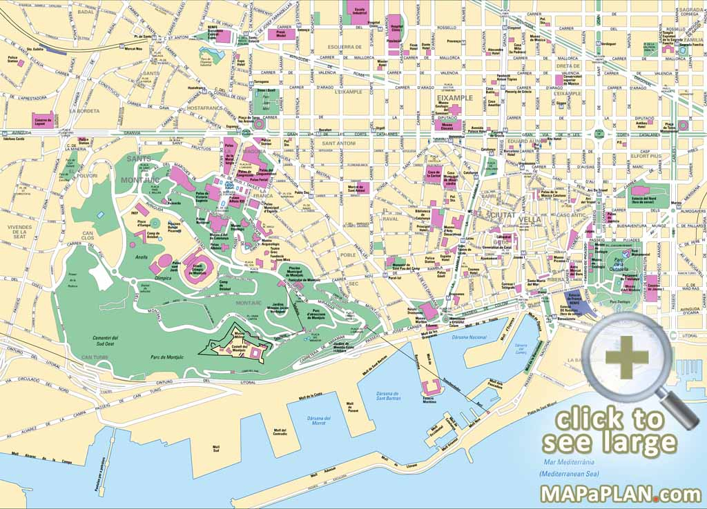 Barcelona Maps Top Tourist Attractions Free Printable