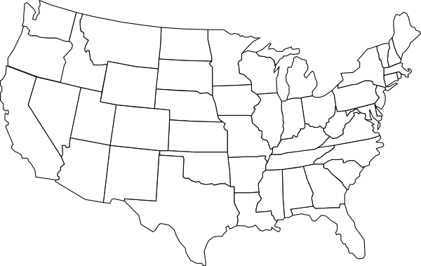 Black And White U s Map Clip Art At Clker Vector