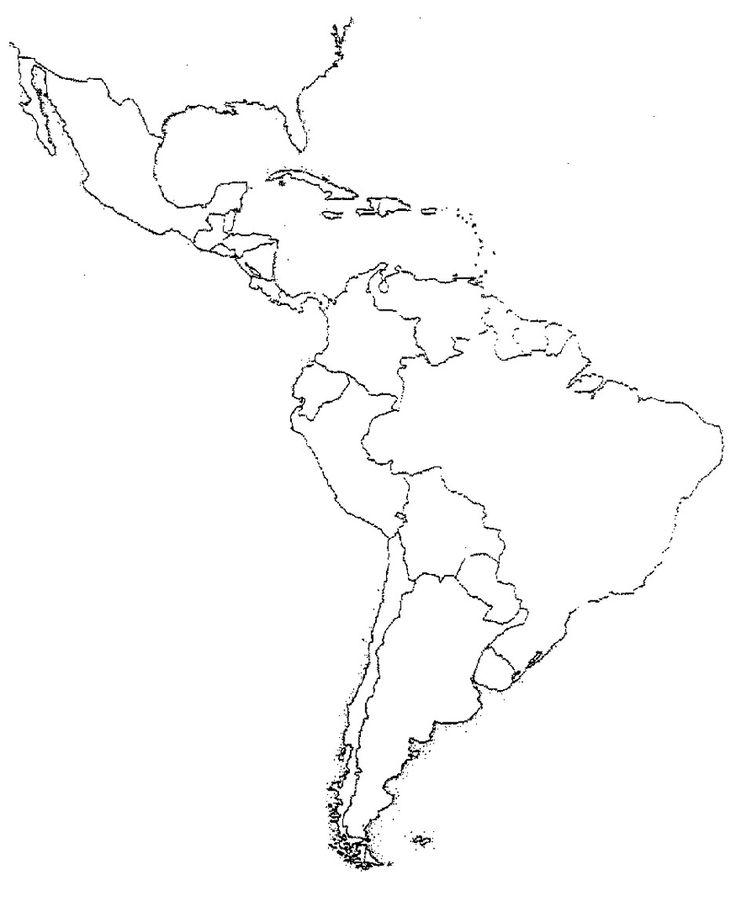 Blank Latin America Map Quiz Latin America Map Map Quiz