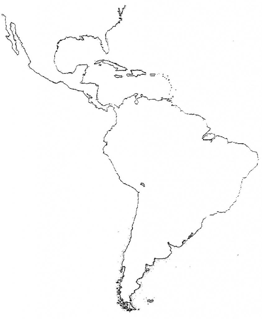 Blank Map Of Latin America Printable Free Printable Maps