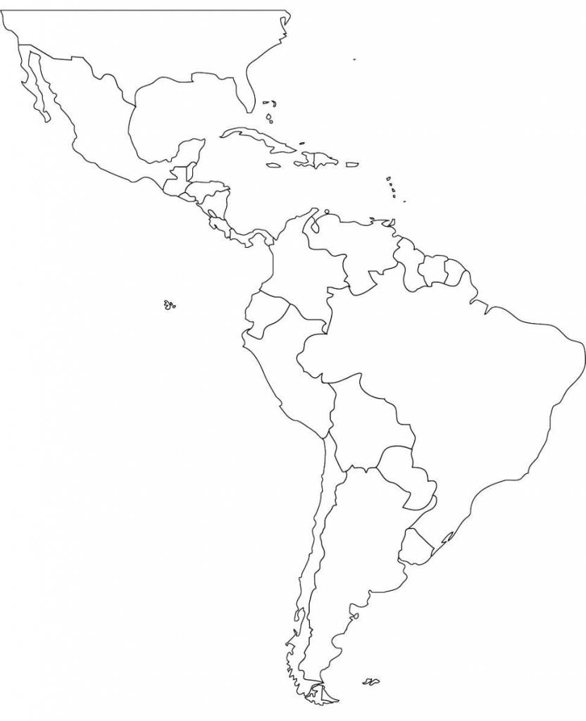 Blank Map Of Latin America Printable Printable Maps