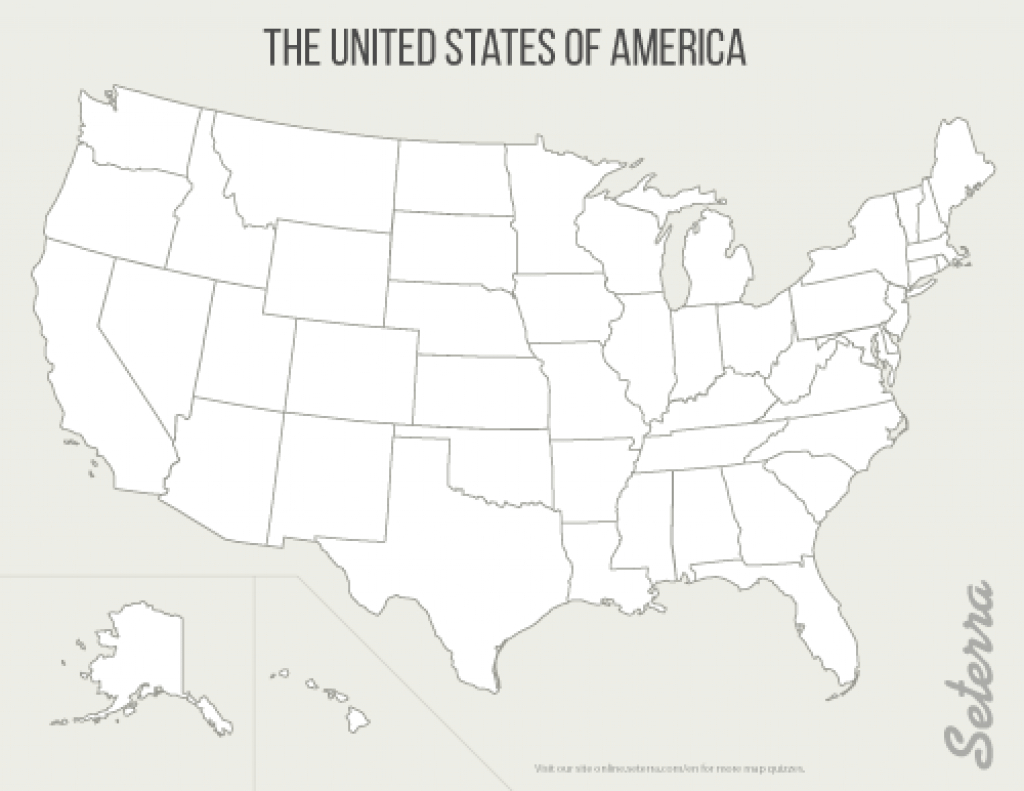 Blank Map Of The United States With Numbers Printable Map