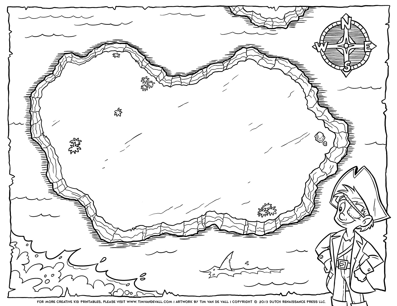 Blank Pirate Treasure Map Tim s Printables