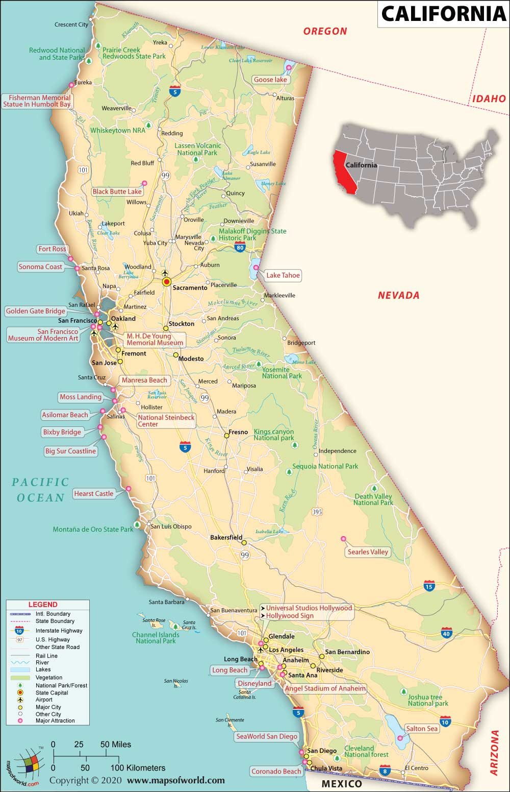Buy Reference Map Of California