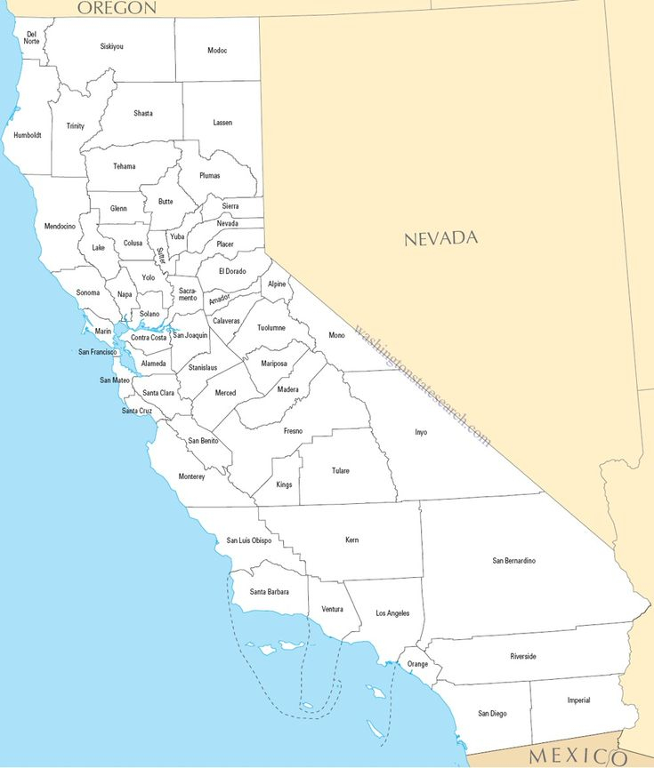 California State Map Printable Our California St