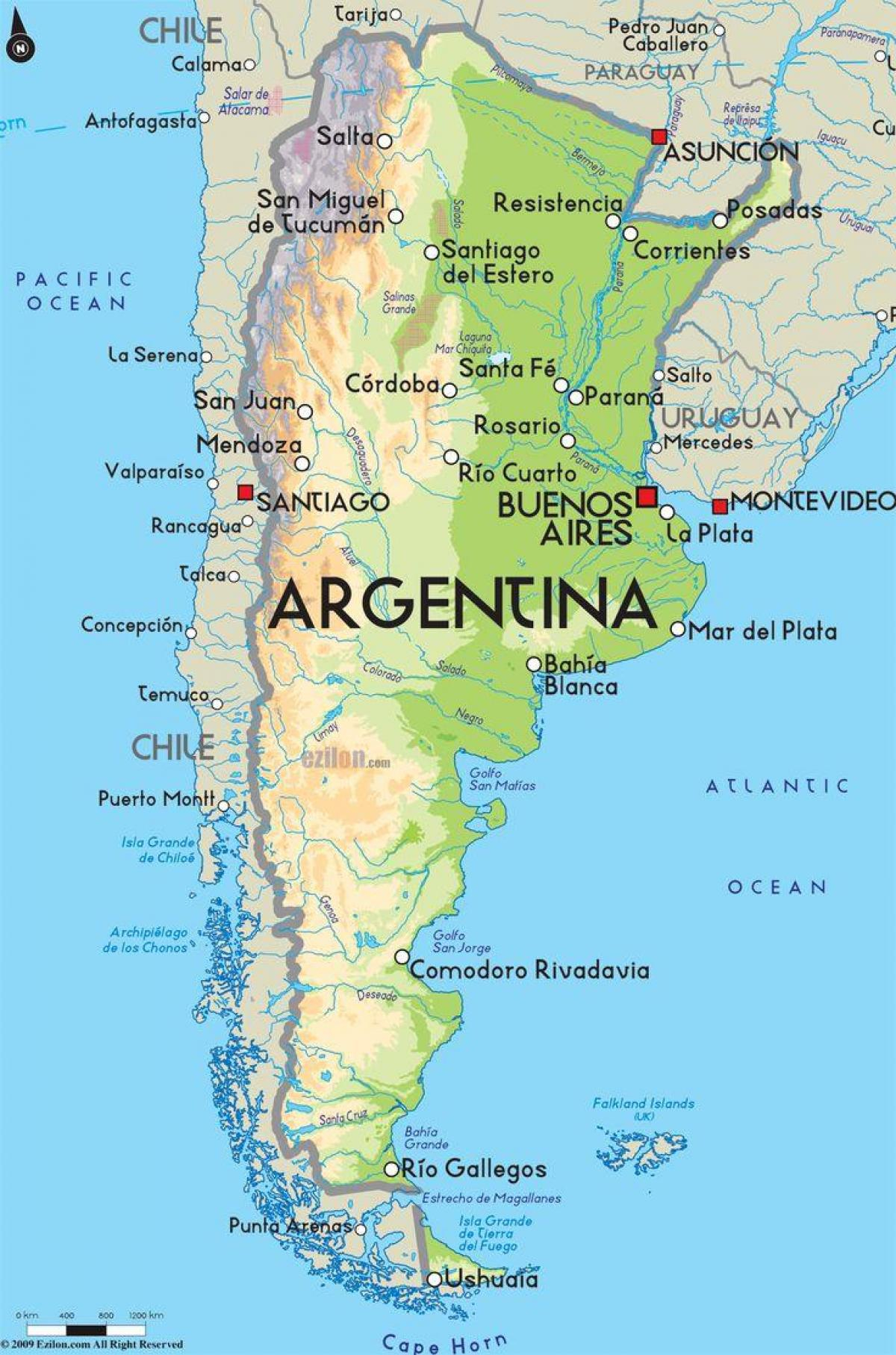 Capital Of Argentina Map Map Of Argentina Capital South