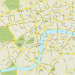 Central London Map Royalty Free Editable Vector Map