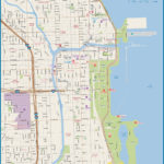 Chicago Downtown Map Digital Vector Creative Force
