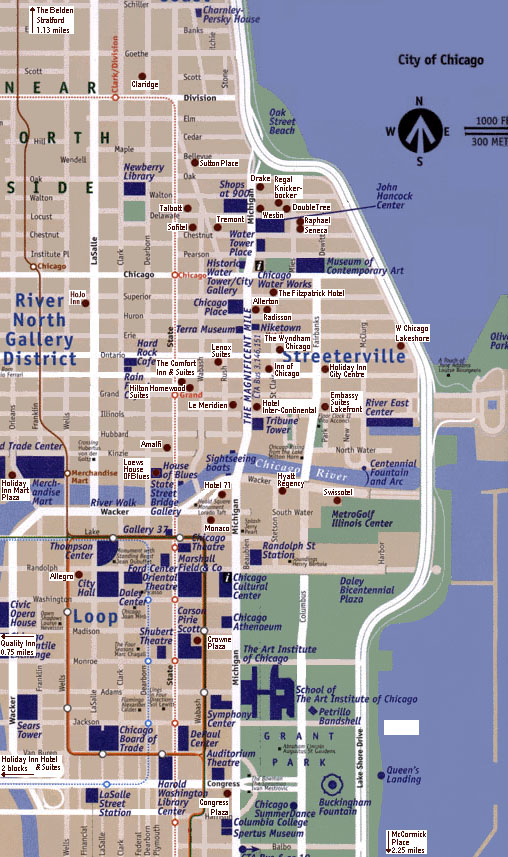 Chicago Map Free Printable Maps