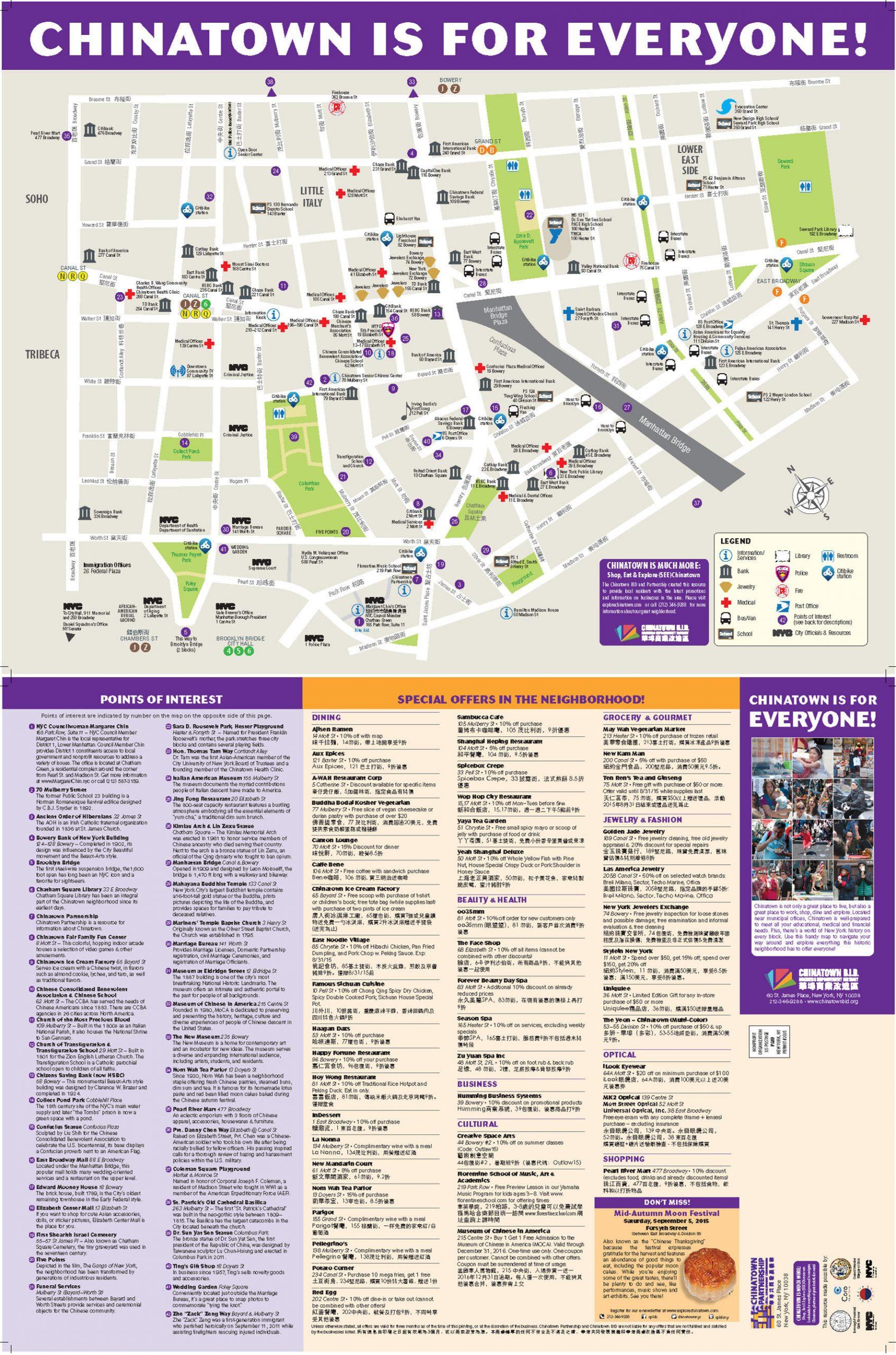 Chinatown Map Chinatown NYC
