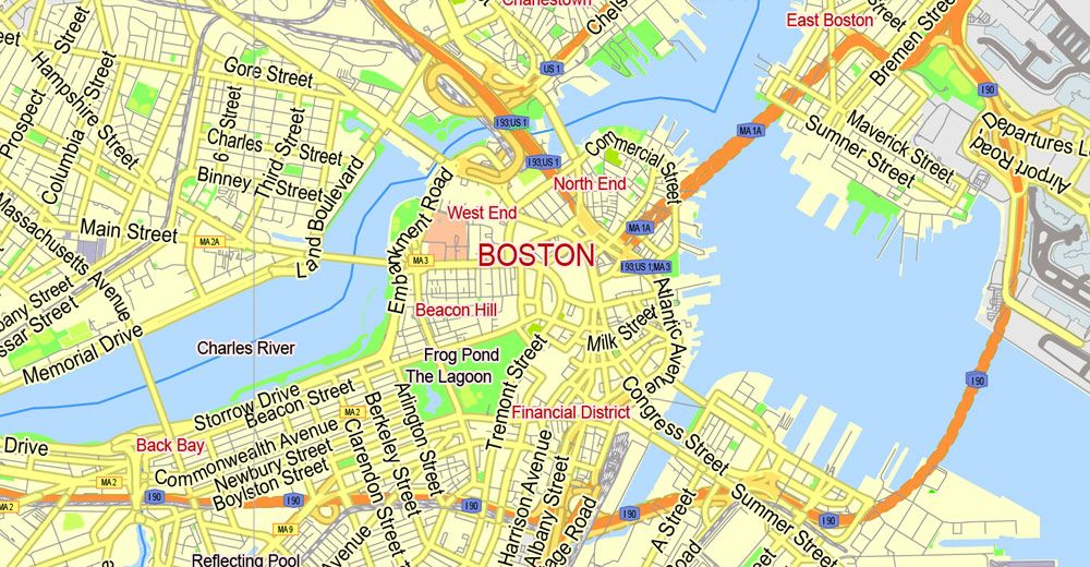 City Of Boston Map Street Maps Yahoo Image Search