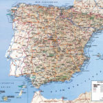 Detailed Road Map Of Spain Spain Detailed Road Map