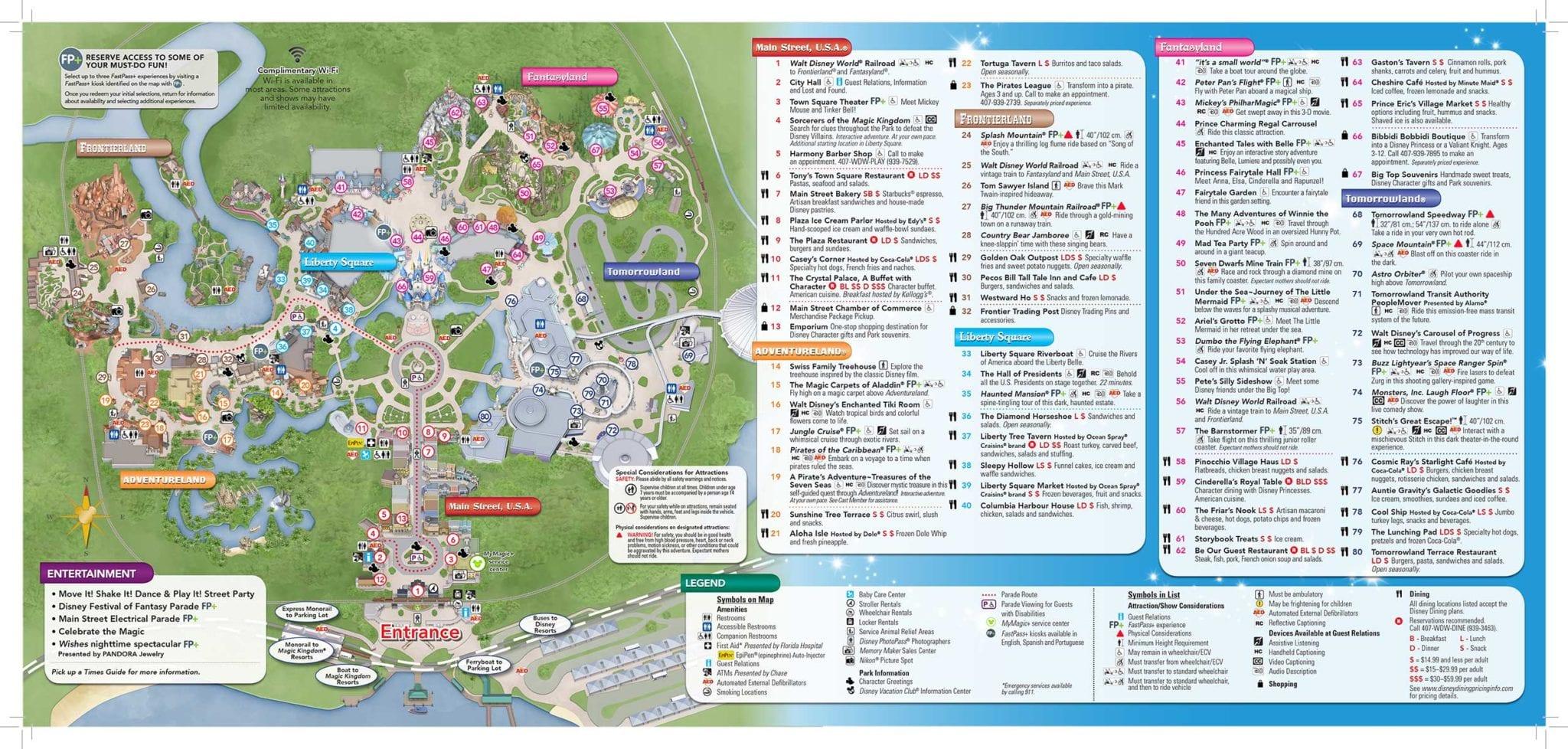 Disney magic kingdom map Kathryn Whitaker
