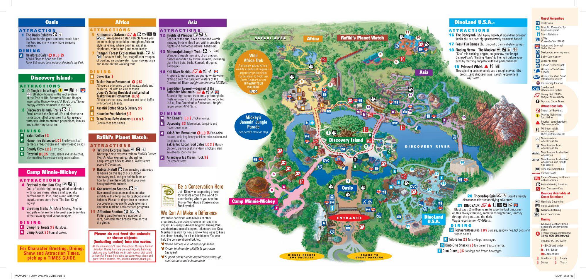 Disney s Animal Kingdom Map Theme Park Map Animal