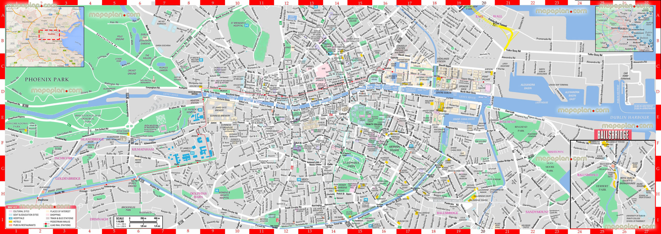 Dublin Map Dublin Ireland Visitor s Map Interactive