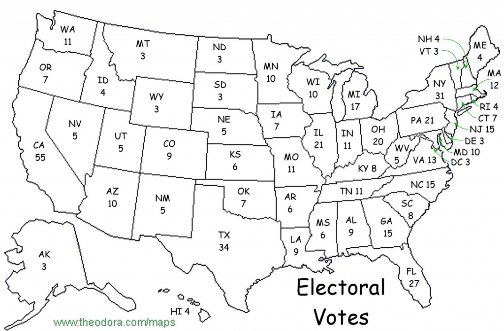 Election 2016 Regarding Blank Electoral College Map 2016