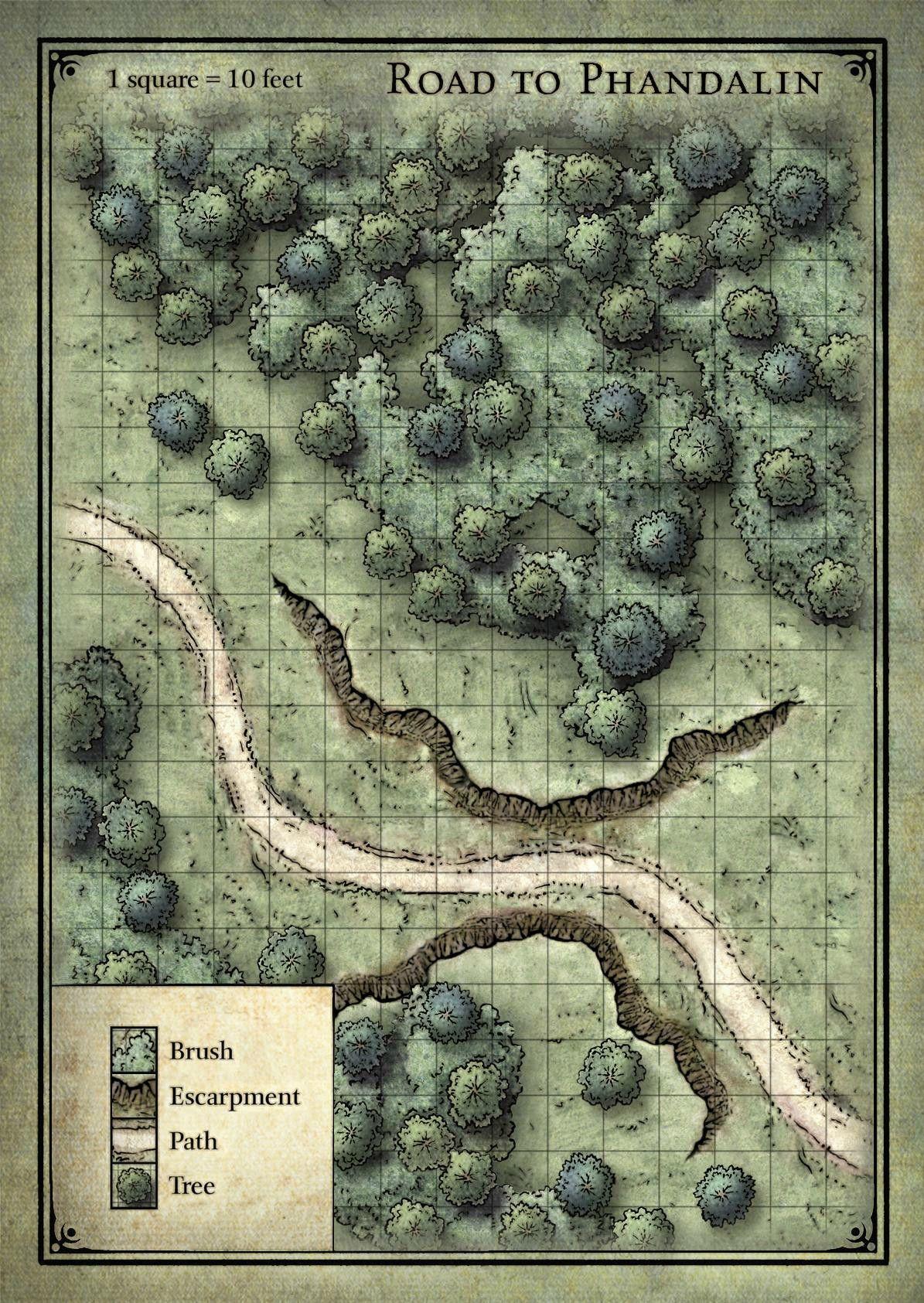 Estrada Para Phandalin Fantasy Map Dungeon Maps