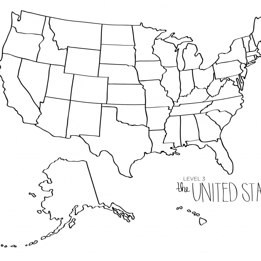 Free Printable Black And White Map Of The United States