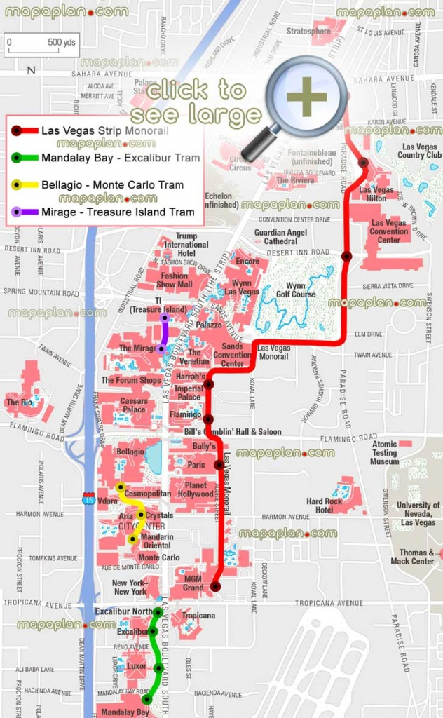 Free Printable Map Of The Las Vegas Strip Printable Maps