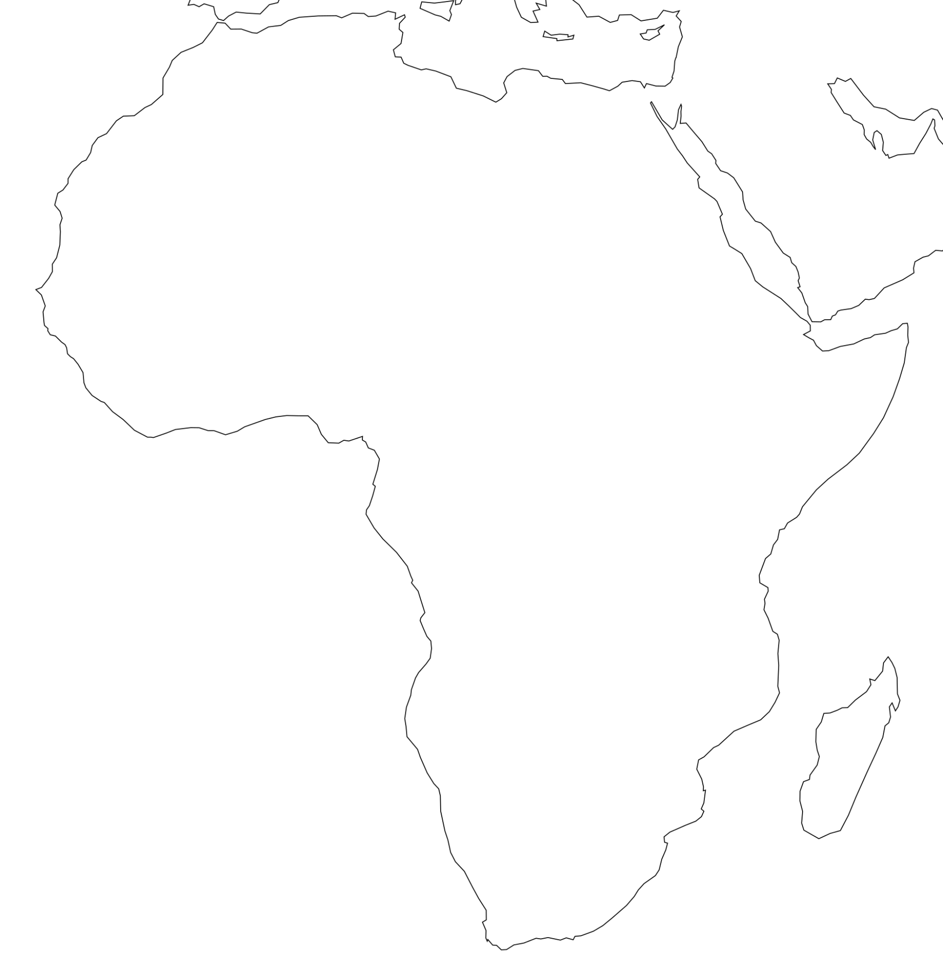 Free Printable Maps Of Africa