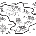 Free Treasure Map Coloring Page Download It At Https