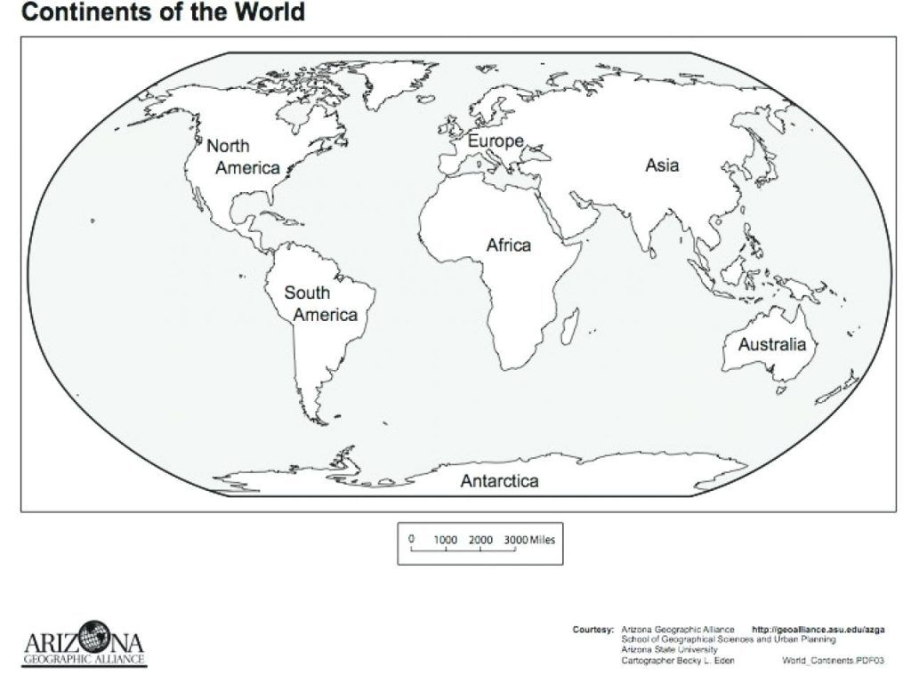 Great Image Of Continents Coloring Page Entitlementtrap