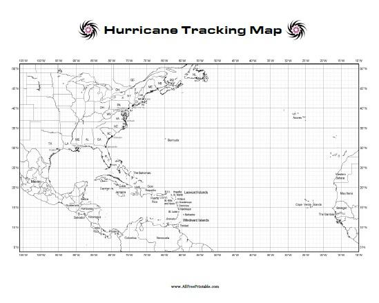 Hurricane Tracking Map Free Printable AllFreePrintable