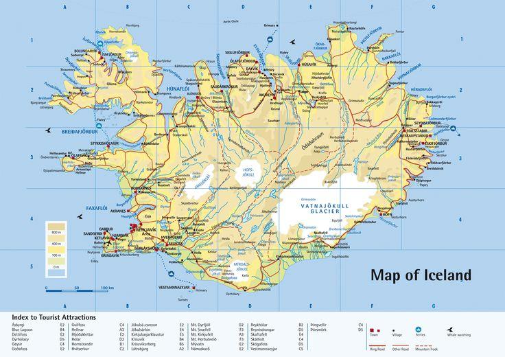 Iceland Tourism Printable Iceland Tourist Map Iceland