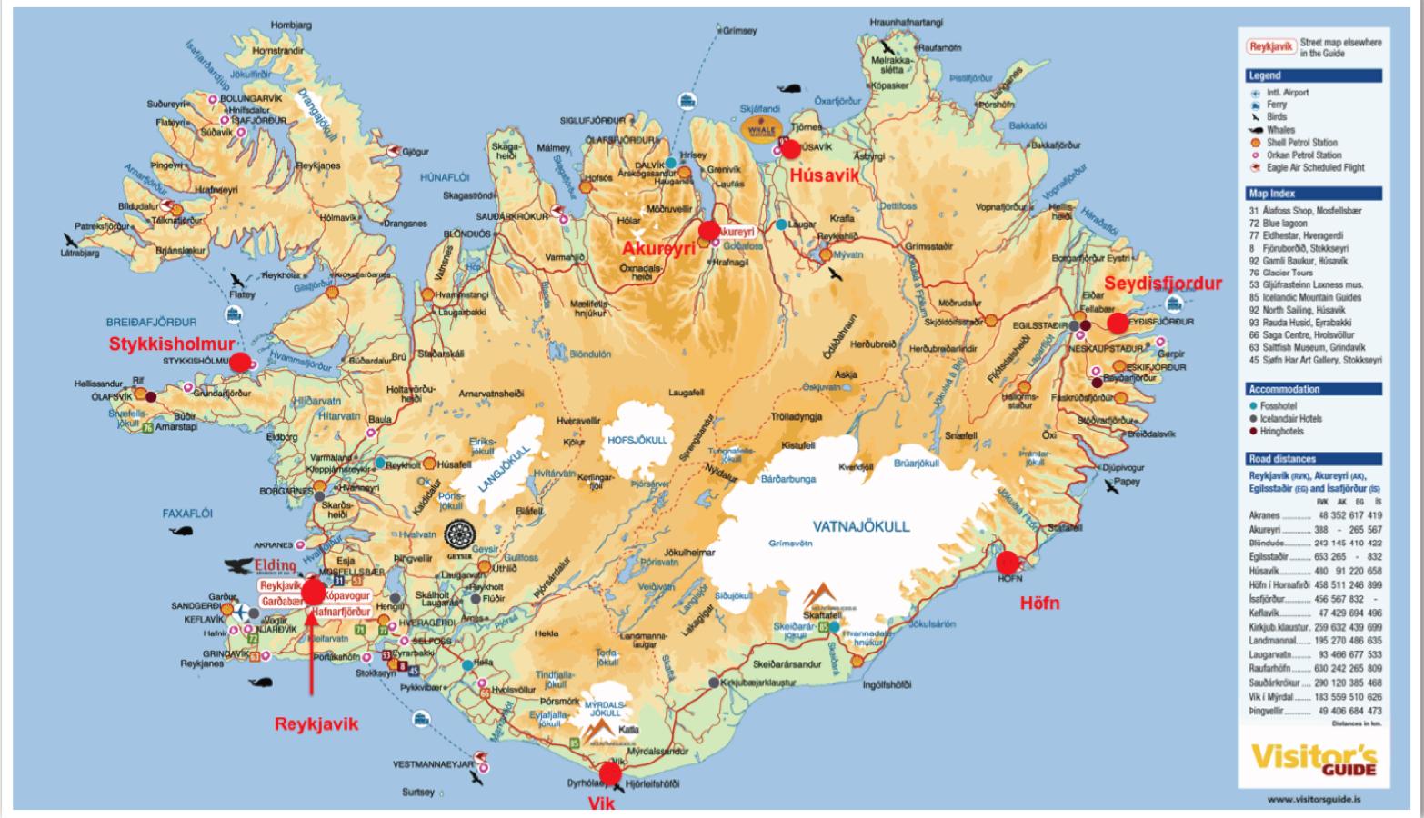 Icelandic Map ISCI 361