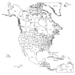 Image Result For Map Of North America Black And White