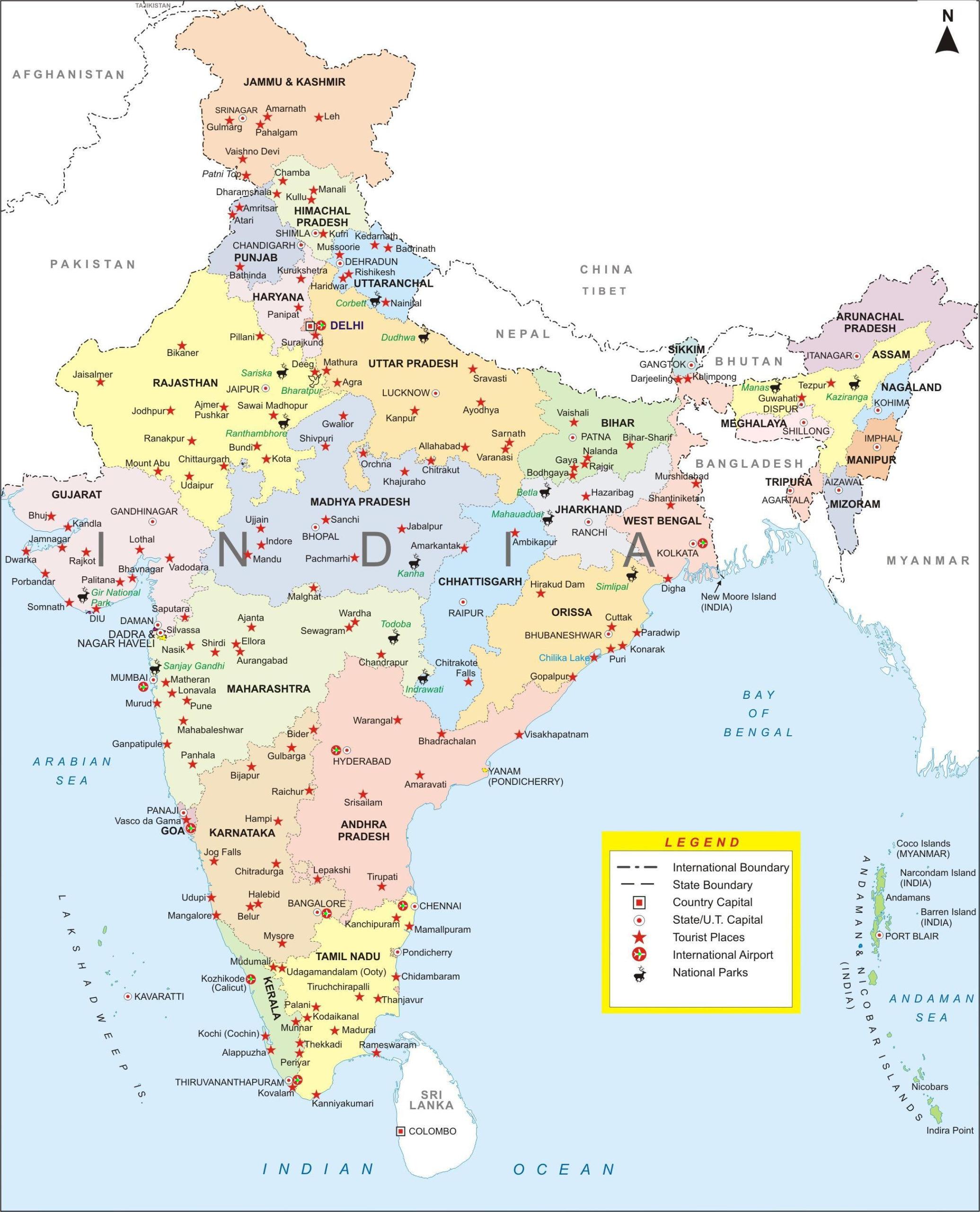 India city map Creative Travel I A Family Story Since 1977