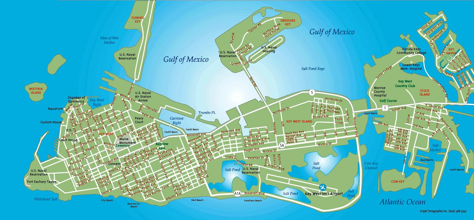 Indigo Moon Key West Map