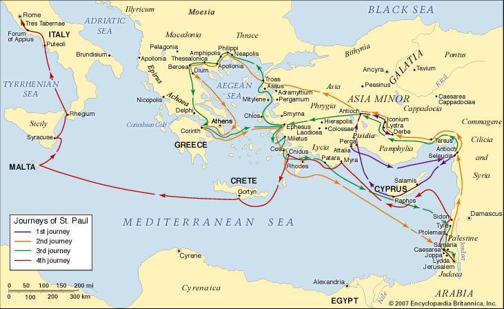 Interactive Map Biblical Tours