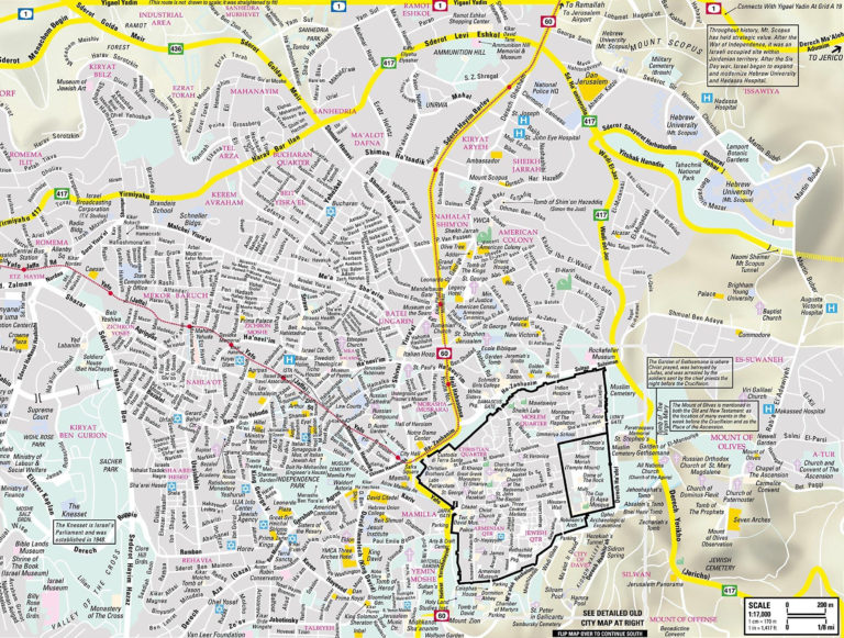 Jerusalem Maps Transport Maps And Tourist Maps Of