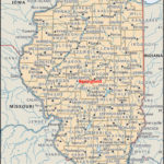 Labeled Illinois Map With Capital World Map Blank And