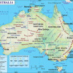 Labeled Map Of Australia With States Capital Cities