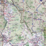 Large Detailed Roads And Highways Map Of Idaho State With