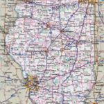Large Detailed Roads And Highways Map Of Illinois State
