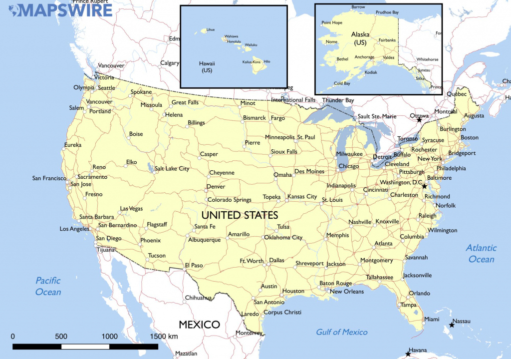 Large Map Of United States Large Printable Map Of The