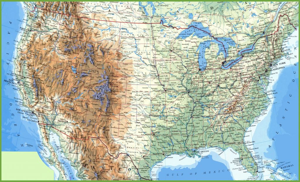 Large Printable Map Of The United States With Cities