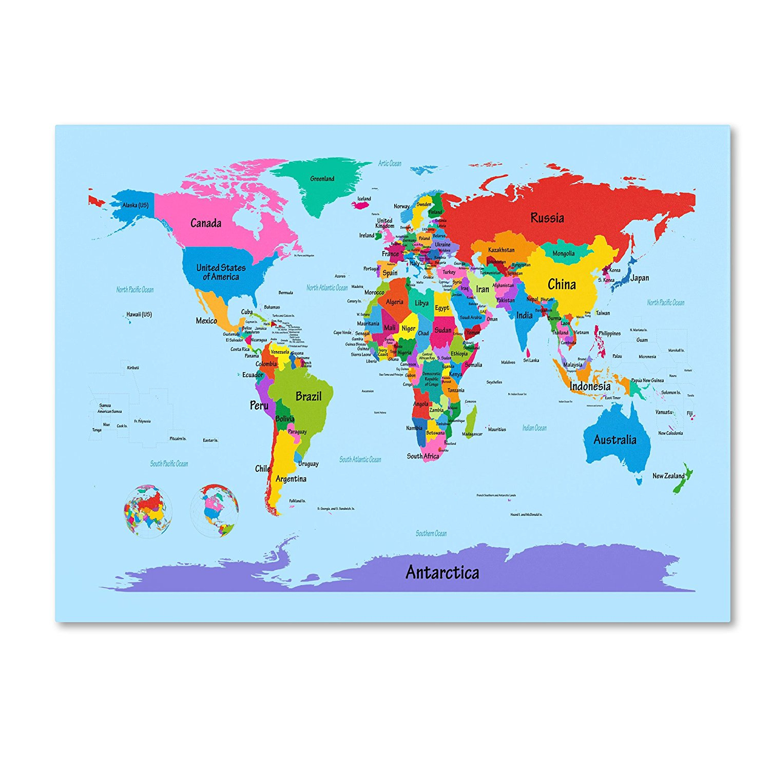 Large Printable World Map Labeled Made By Creative Label