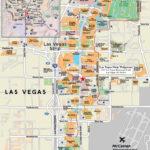 Large Strip Map Of Las Vegas City Las Vegas Large Strip
