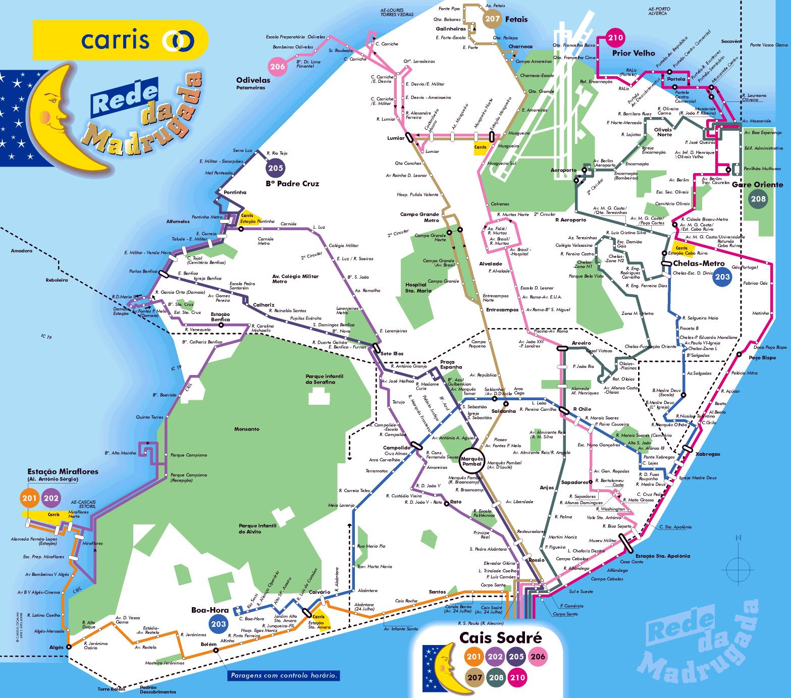 Large Tourist Map Of Lisbon Lisbon City Large Tourist Map