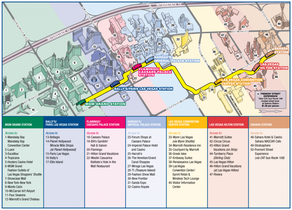 Las Vegas Strip Map 2016 Printable Printable Maps