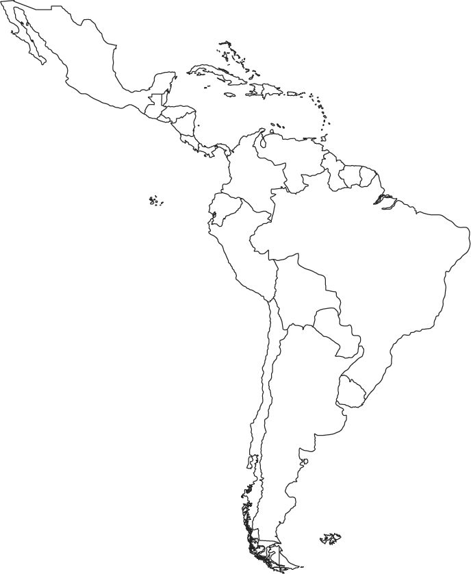 Latin America Outline Map Worldatlas Latin America