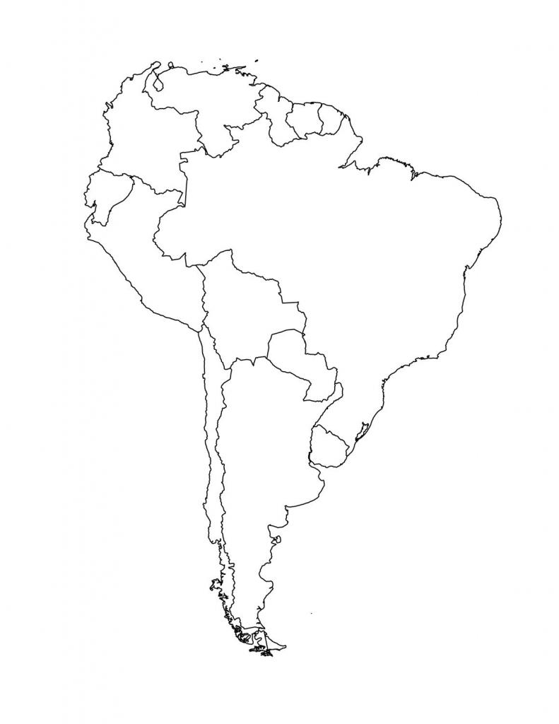 Latin America Printable Blank Map South Brazil Maps Of