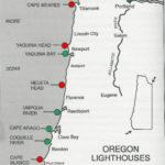 Lighthouses Of Oregon Coast Map Oregon Coast Mappery