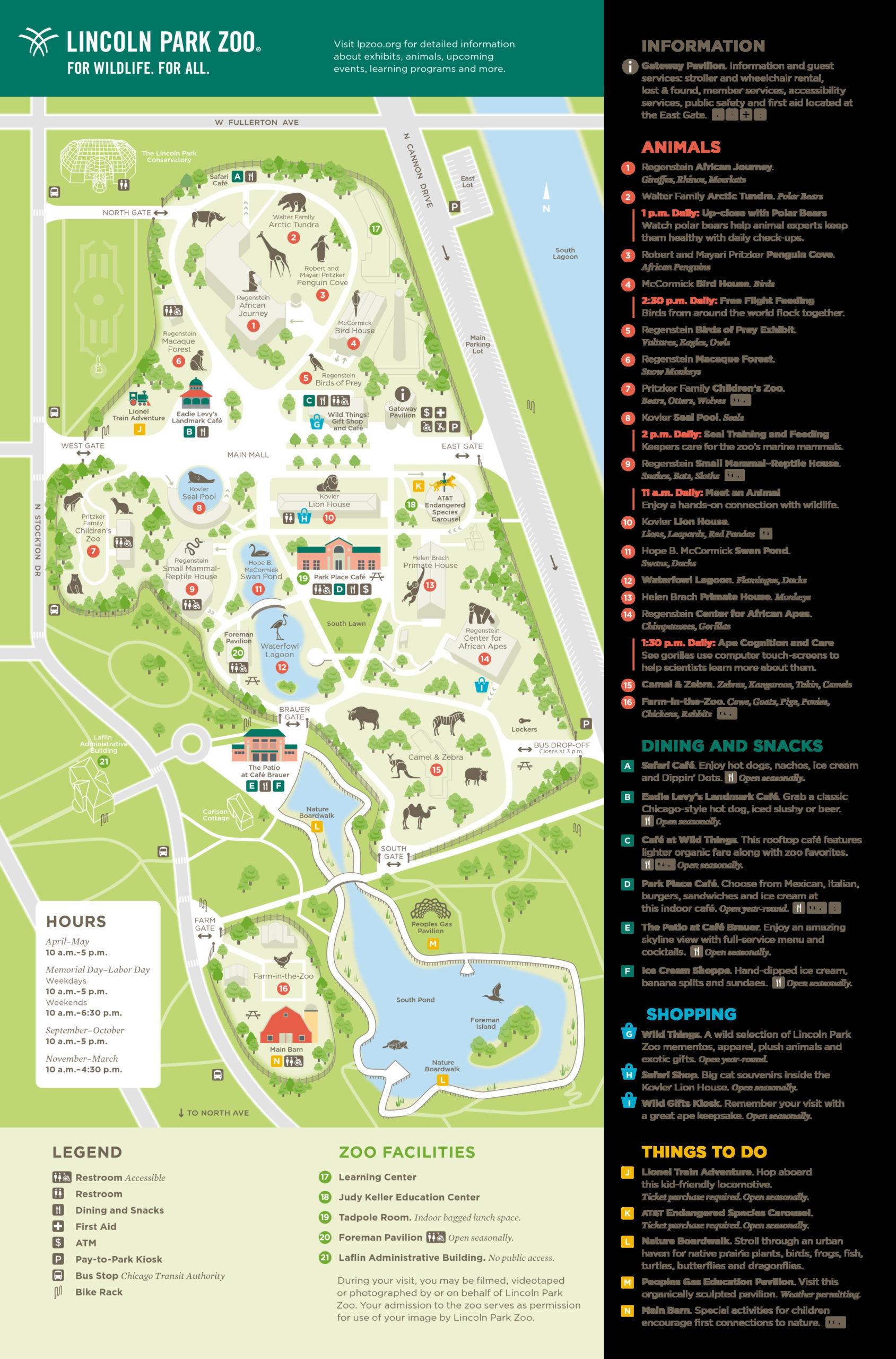 Lincoln Park Zoo Chicago IL Zoo Location